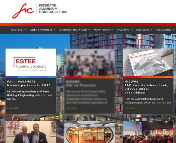 ESTEE partner van de Federatie Aluminium Constructeurs (FAC)