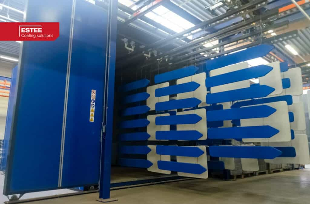 New powder coating installation for Trafiroad